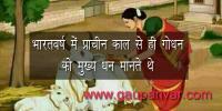 भारतवर्ष में प्राचीन काल से ही गोधन को मुख्य धन मानते थे